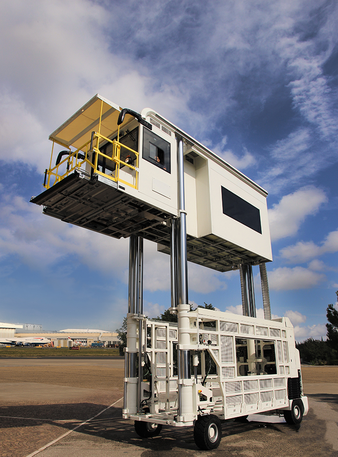 Paxlift ambulift raised